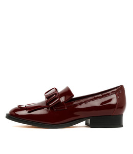 RALLY Loafers in Bordeaux Patent Leather