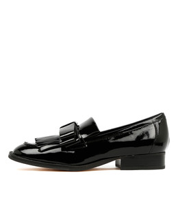 RALLY Loafers in Black Patent Leather
