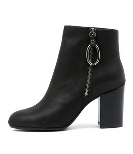WARDA Ankle Boots in Black Leather