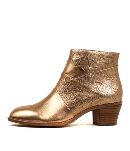 ICANT Ankle Boots in Rose Gold Wash Leather