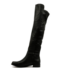 LACO Knee High Boots in Black Leather