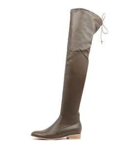 LEER Over The Knee Boots in Donkey Leather