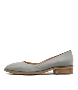 YACHT Flats in Blue Grey Leather