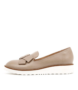 OCLEG Flatform Loafers in Taupe Leather