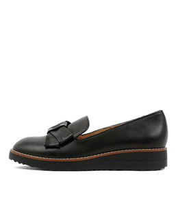 OCLEG Flatform Loafers in Black Leather
