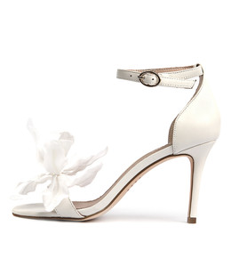 DRYER Heeled Sandals in White Leather