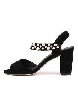 ACHIEVE Heeled Sandals in Black Suede