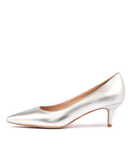 CERTAIN High Heels in Silver Leather