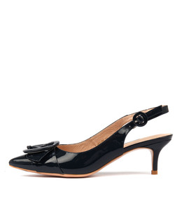 CARNABY High Heels in Navy Patent Leather