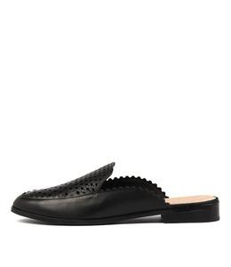 CINCIN Mules in Black Leather