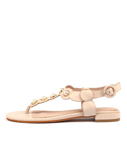 LORA Sandals in Nude Leather