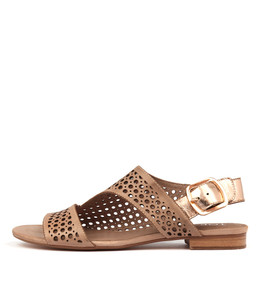 POSSESSED Sandals in Latte/ Rose Gold Leather