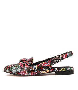 BARBOSO Flats in Black Balloon Printed Leather