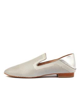 SENOR Slip-on Flats in Misty/ Silver Leather