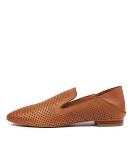 SENOR Slip-on Flats in Cognac Leather