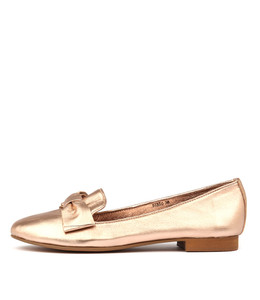 BIBIO Loafers in Rose Gold Leather