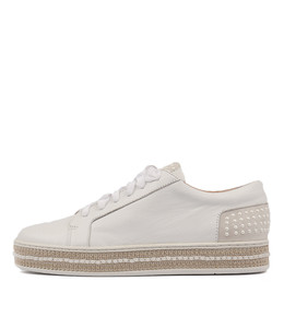 PEDDLER Lace-up Sneakers in White Mix