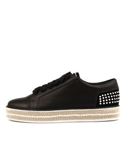 PEDDLER Lace-up Sneakers in Black Mix