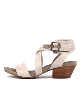 CHILLY Heeled Sandals in Misty/ Charcoal Leather