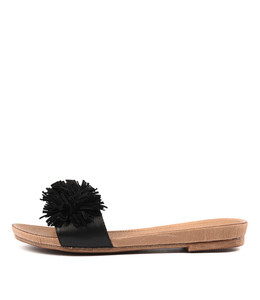 CLOWN Sandals in Black Leather