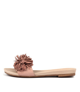 CLOWN Sandals in Rose Leather