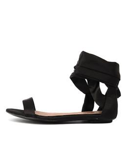 PIPPER Sandals in Black Satin