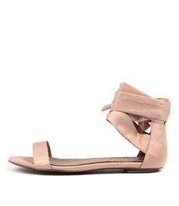 PIPPER Sandals in Blush Satin
