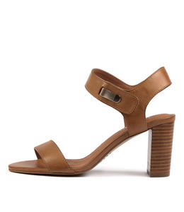 TUNO Heeled Sandals in Tan Leather