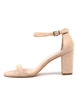 AMALFISS Heeled Sandals in Nude Suede