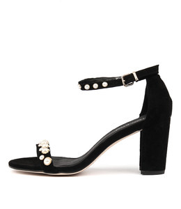 ABIAS Heeled Sandals in Black Suede