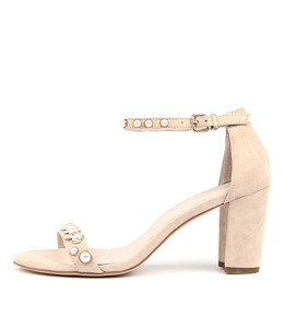 ABIAS Heeled Sandals in Nude Suede