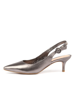 CHRISTY High Heels in Pewter Leather