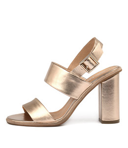 SOWZER High Heels in Rose Gold Smoke Leather
