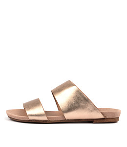CORINE Sandals in Rose Gold Leather