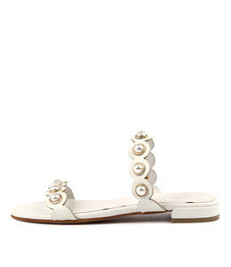 LORRISA Sandals in White Leather