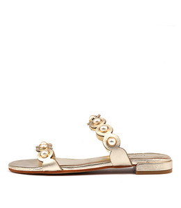 LORRISA Sandals in Pale Gold Leather
