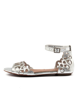 PREFER Sandals in Silver Leather