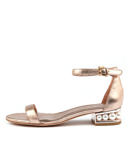 PERHAPS Sandals in Rose Gold Leather