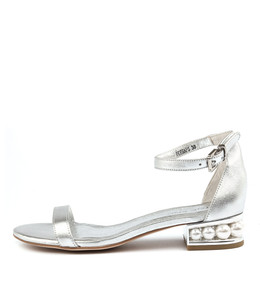 PERHAPS Sandals in Silver Leather