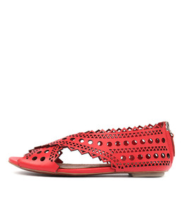 PEPSA Sandals in Red Leather