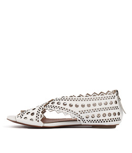 PEPSA Sandals in White Leather