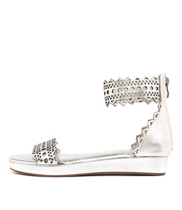 FRIZON Sandals in Silver Leather