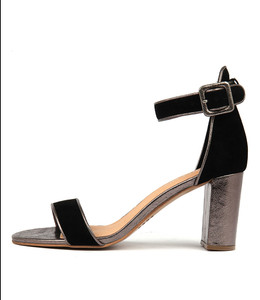 TREEM Heeled Sandals in Black/ Multi Leather