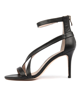 DUSTY Heeled Sandals in Black Leather