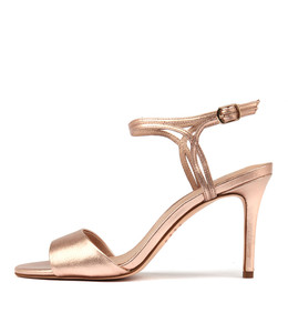 DANIELLE Heeled Sandals in Rose Gold Leather