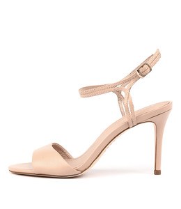 DANIELLE Heeled Sandals in Dark Nude Leather