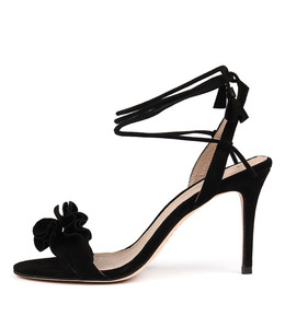 DRINK Heeled Sandals in Black Suede