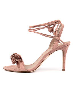 DRINK Heeled Sandals in Rose Suede