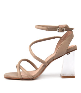 JEANA Heeled Sandals in Nude Leather