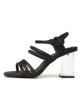 JALOLA Heeled Sandals in Black Leather